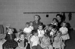 Primary view of object titled '[Children's Class at First United Methodist Church]'.