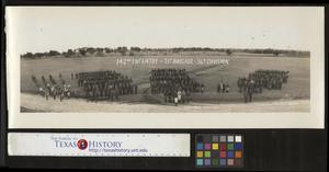 Primary view of object titled '[Photograph of 142nd Infantry, 71st Brigade, 36th Division]'.