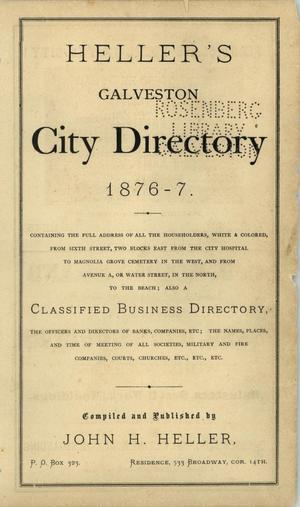 Heller's Galveston Directory, 1876-1877