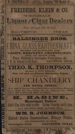 Heller's Galveston Directory, 1880-1881