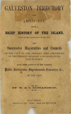 Galveston City Directory, 1859-1860