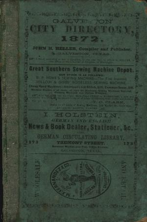 Galveston City Directory, 1872
