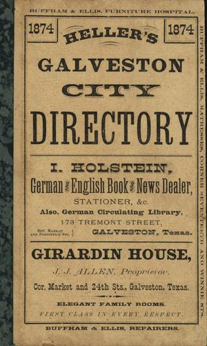 Heller's Galveston City Directory, 1874