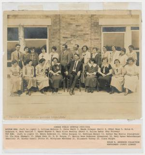 Primary view of object titled '[Photograph of Conroe Public Schools Faculty, 1923-1924]'.