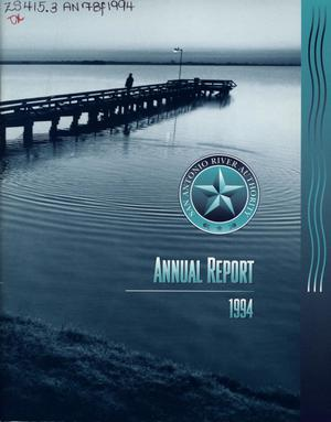 Primary view of object titled 'San Antonio River Authority Annual Report: 1994'.