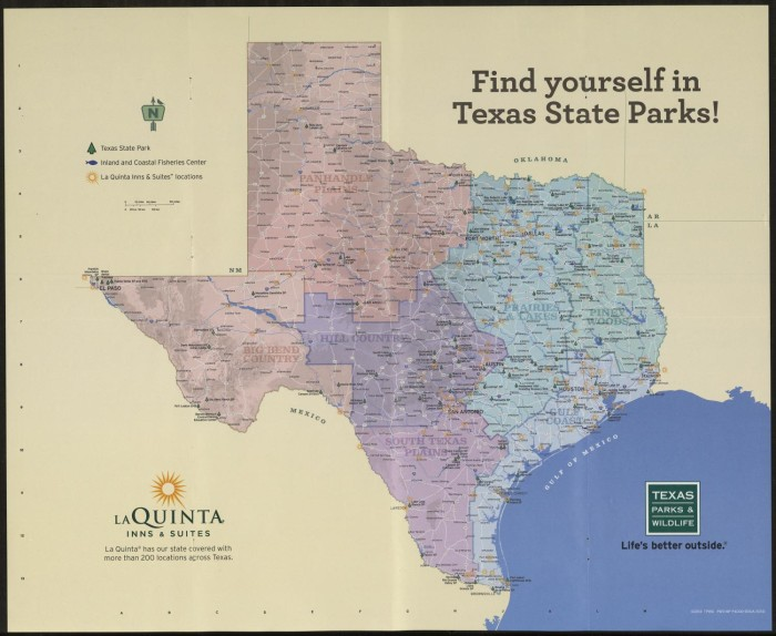 Texas State Park Map, 2014 - The Portal to Texas History