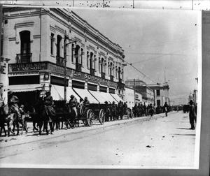 Primary view of object titled '[Libertad Street Scene in Ciudad Chihuahua]'.