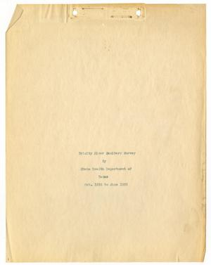 Primary view of object titled 'Trinity River Sanitary Survey'.
