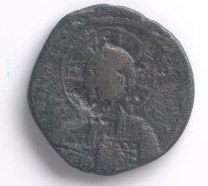 Primary view of Coin from the Byzantine Empire bearing likeness of Christ