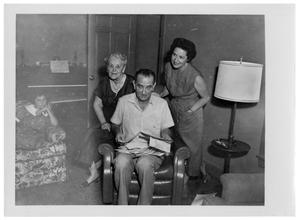Primary view of object titled '[Lyndon Johnson Sitting on a Chair]'.