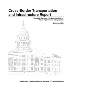 Primary view of object titled 'Cross-Border Transportation and Infrastructure Report'.