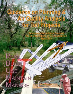 Primary view of object titled 'Guidance on Planning & Air Quality Analysis for Toll Projects'.