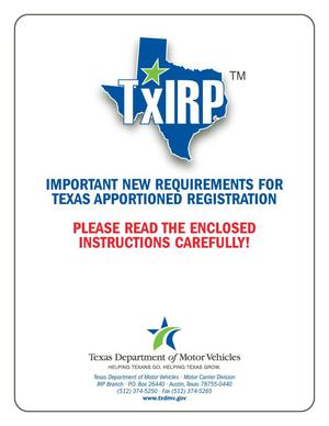 Primary view of object titled 'TxIRP Important New Requirements for Texas Apportioned Registration'.