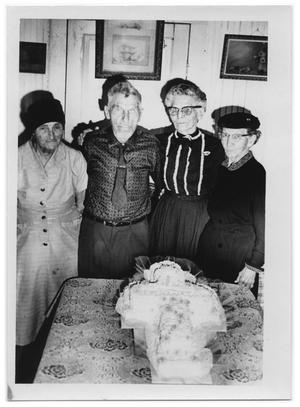 Primary view of object titled '[Otto Lindig, Mrs. Lindig, and Two Other Women]'.