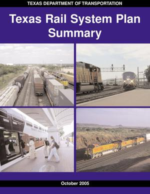 Primary view of object titled 'Texas Rail System Plan Summary'.