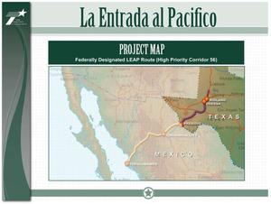 Primary view of object titled 'La Entrada al Pacifico: Project Map'.