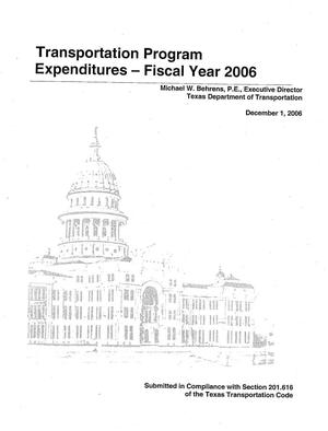 Primary view of object titled 'Transportation Program Expenditures- Fiscal Year 2006'.