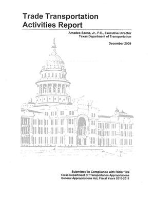 Primary view of object titled 'Trade Transportation Activities Report'.