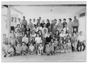 Primary view of object titled '[Family Arranged in Five Rows]'.