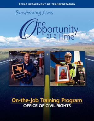 Primary view of object titled 'TxDOT On-the-Job Training Program'.