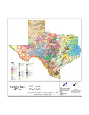 Primary view of object titled 'Vegetation Types of Texas'.