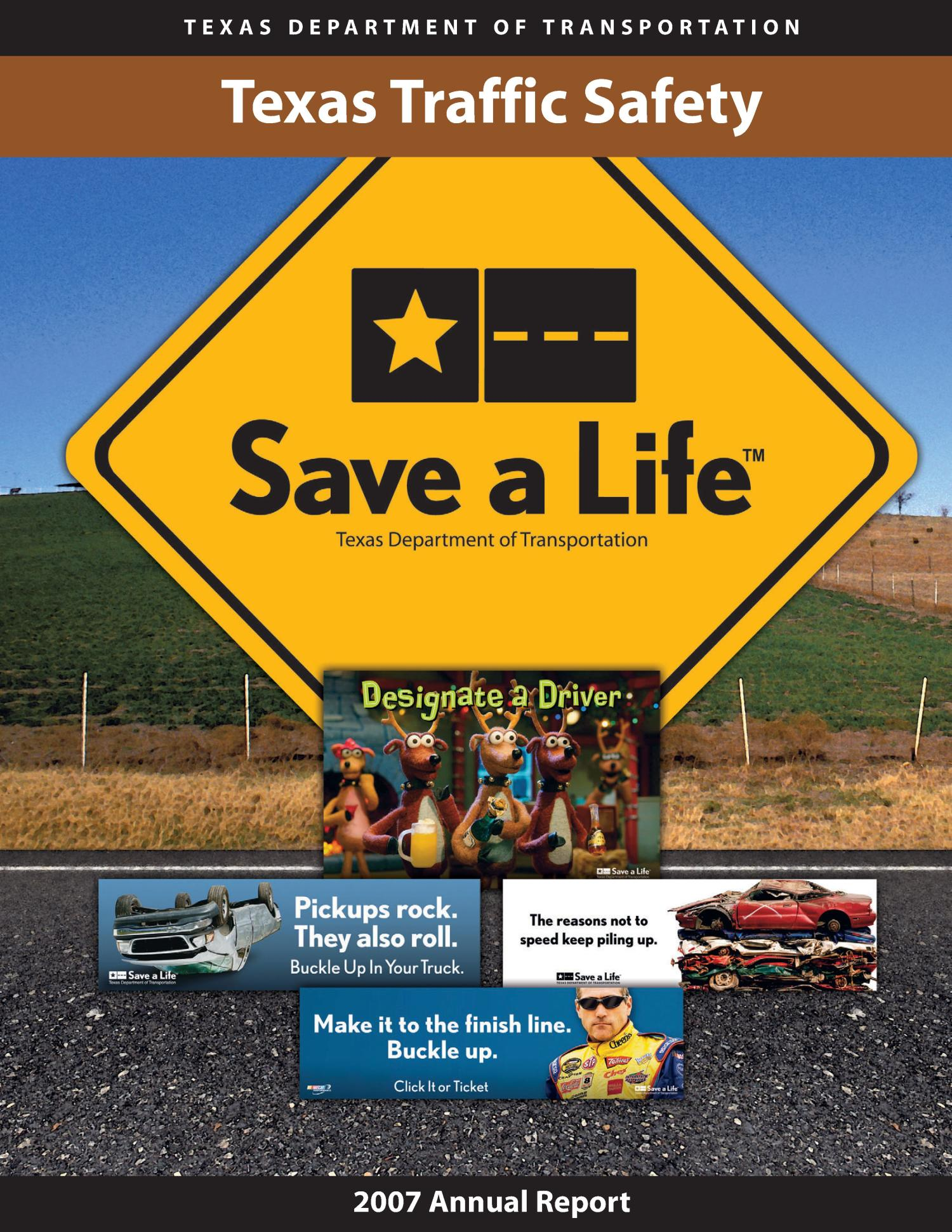 Texas Traffic Safety Program Annual Report: 2007                                                                                                      Front Cover