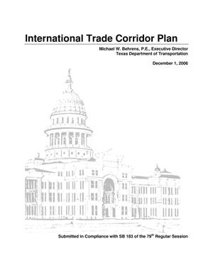 Primary view of object titled 'International Trade Corridor Plan'.