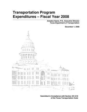 Primary view of object titled 'Transportation Program Expenditures - Fiscal Year 2008'.