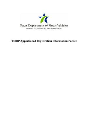 Primary view of object titled 'TxIRP Apportioned Registration Information Packet'.