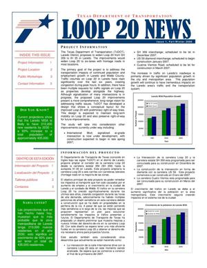 Primary view of object titled 'Loop 20 News, Number 1, Fall/Winter 2006'.