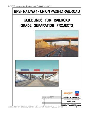 Primary view of object titled 'Guidelines for Railroad Grade Separation Projects'.
