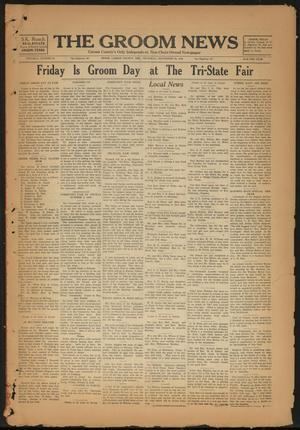 Primary view of object titled 'The Groom News (Groom, Tex.), Vol. 3, No. 28, Ed. 1 Thursday, September 20, 1928'.
