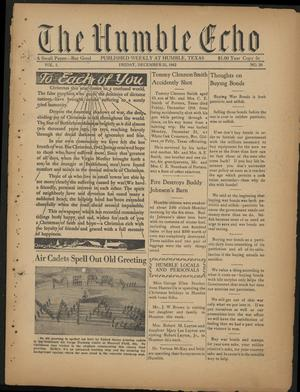 Primary view of object titled 'The Humble Echo (Humble, Tex.), Vol. 1, No. 28, Ed. 1 Friday, December 25, 1942'.