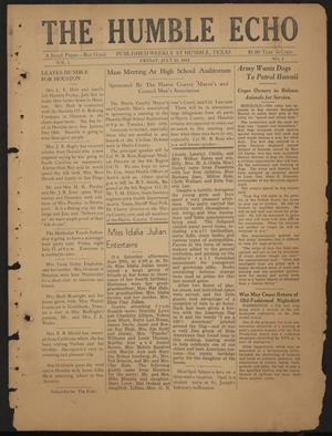 Primary view of object titled 'The Humble Echo (Humble, Tex.), Vol. 1, No. 4, Ed. 1 Friday, July 10, 1942'.