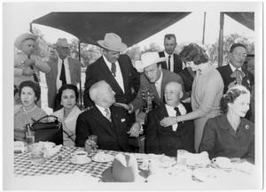 Primary view of object titled '[Barbecue at LBJ Ranch During President Adolfo Mateos Visit]'.