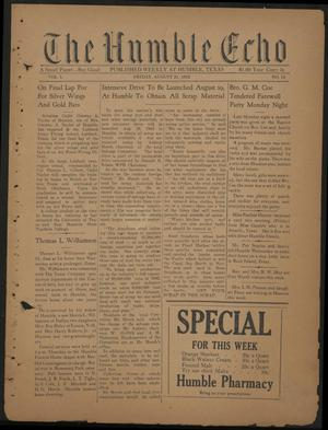 Primary view of object titled 'The Humble Echo (Humble, Tex.), Vol. 1, No. 10, Ed. 1 Friday, August 21, 1942'.