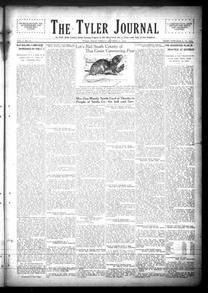 Primary view of object titled 'The Tyler Journal (Tyler, Tex.), Vol. 3, No. 25, Ed. 1 Friday, October 21, 1927'.