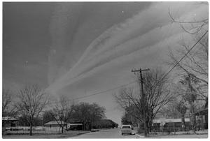 Primary view of object titled '[Contrails Over a Neighborhood]'.