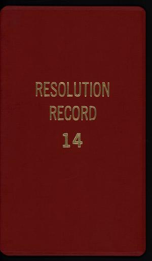 Primary view of object titled '[Abilene City Resolutions: 1994]'.