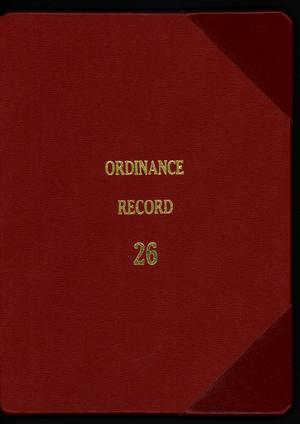 Primary view of object titled '[Abilene City Ordinances: 2006]'.