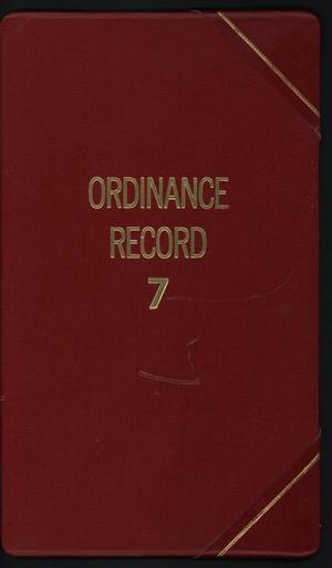 Primary view of object titled '[Abilene City Ordinances: 1987]'.