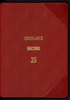 Primary view of object titled '[Abilene City Ordinances: 2005]'.