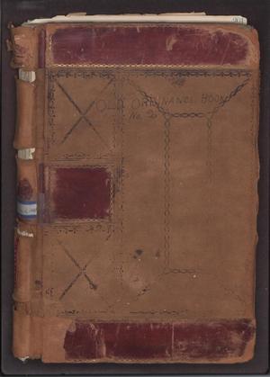 [Abilene City Ordinances: 1885-1902]