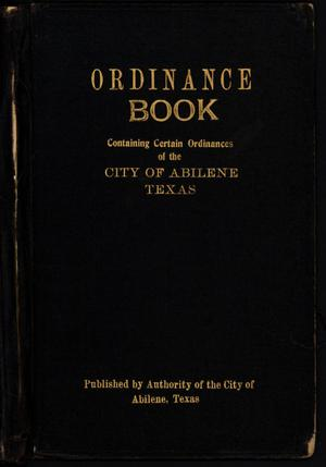 [Abilene City Ordinances: 1883-1902]