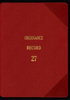 Primary view of object titled '[Abilene City Ordinances: 2007]'.
