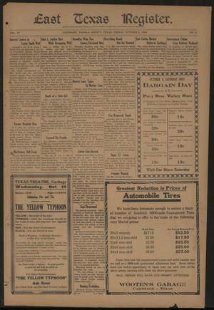 East Texas Register. (Carthage, Tex.), Vol. 19, No. 41, Ed. 1 Friday, October 8, 1920