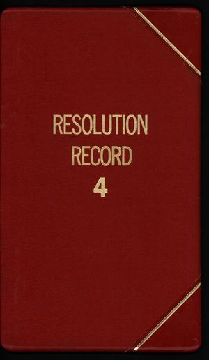 Primary view of object titled '[Abilene City Resolutions: 1984]'.