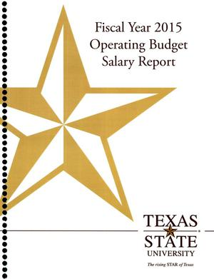 Primary view of object titled 'Texas State University Operating Budget Salary Report: 2015'.