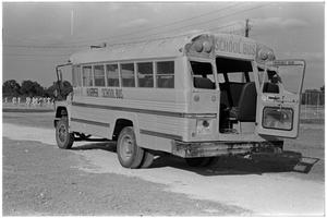 Primary view of object titled '[Damaged School Bus]'.
