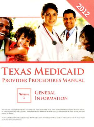 Primary view of object titled 'Texas Medicaid Provider Procedures Manual: Volume 1, General Information'.